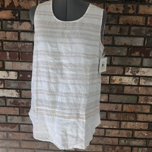 Ellen Tracy linen top NWT